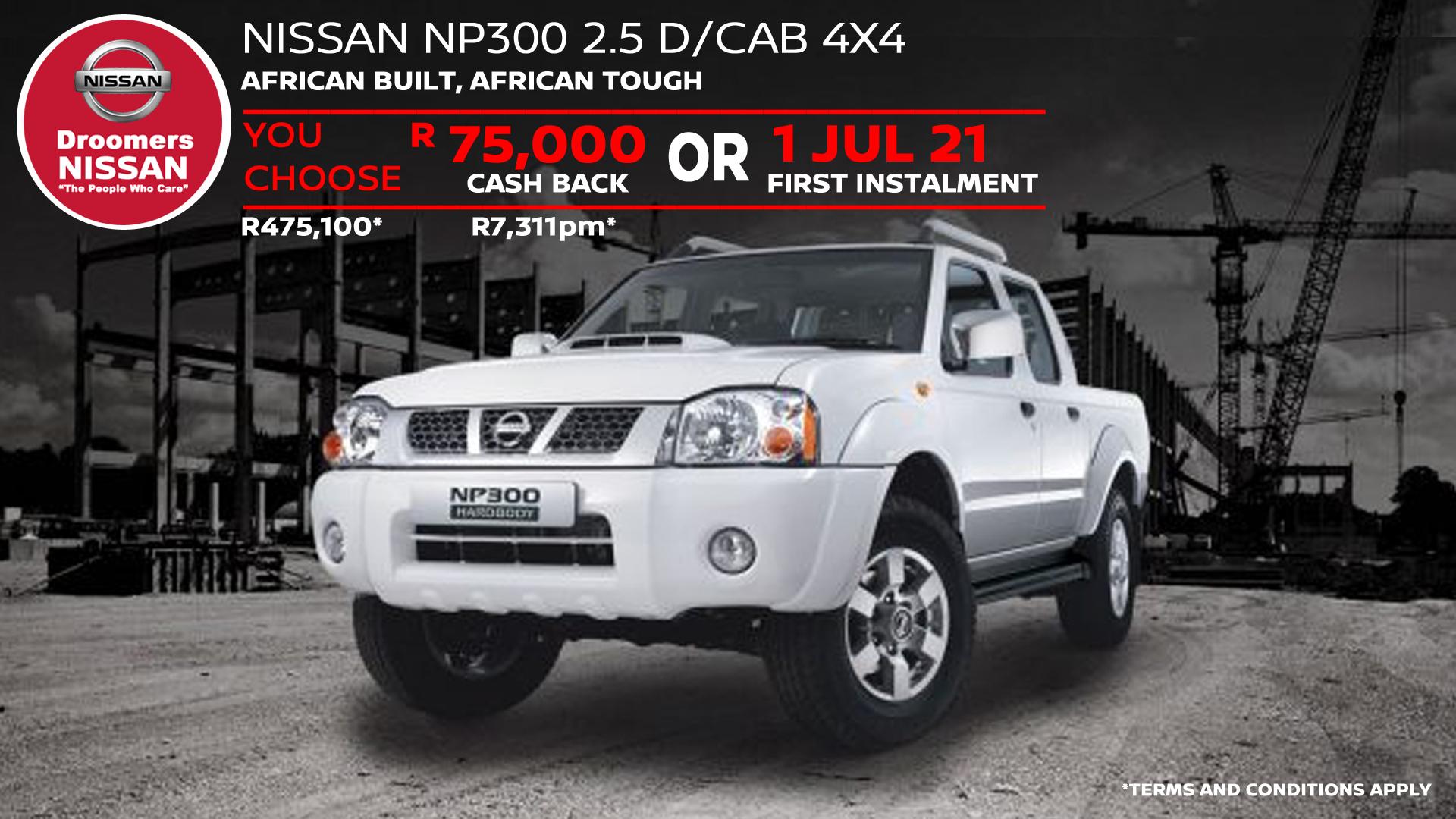 NISSAN NP300 2.5 D/CAB 4X4